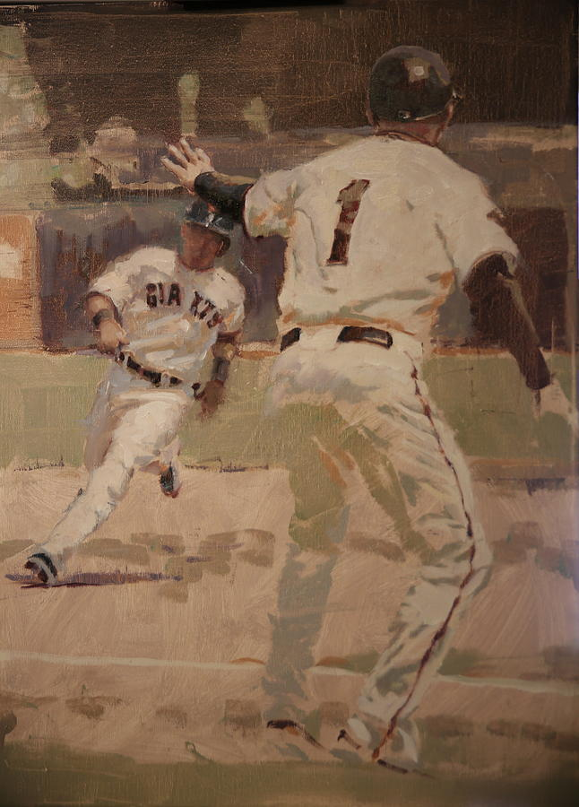 Tim Flannery Painting - Hold At Third by Darren Kerr