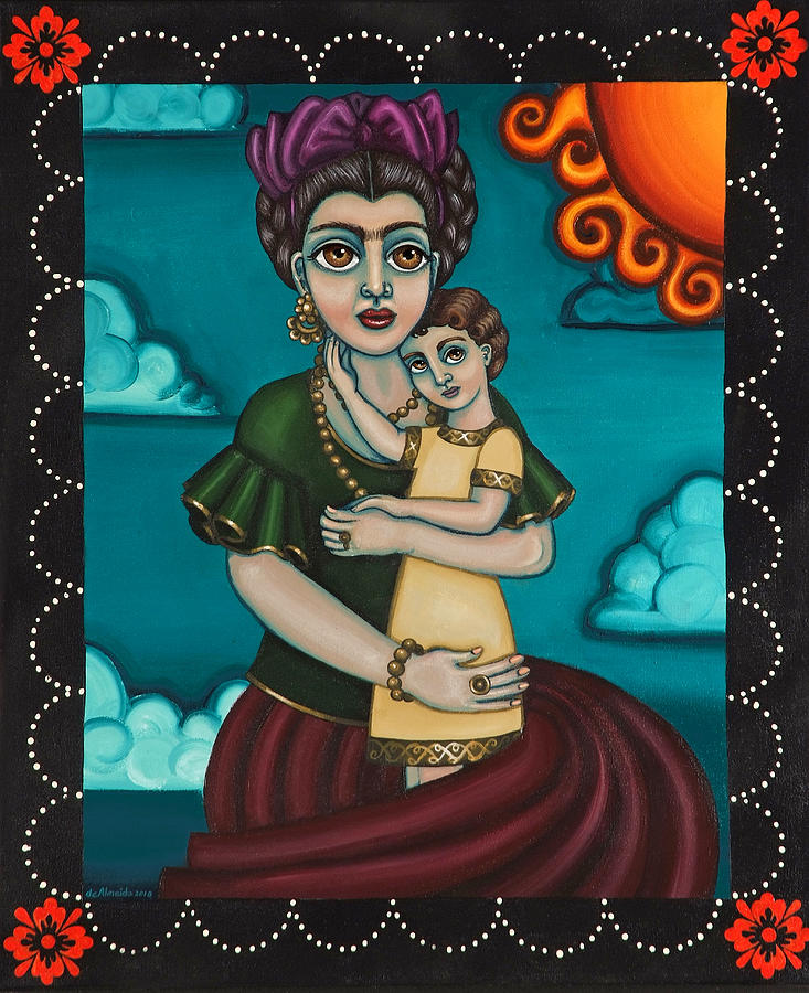 Hispanic Artists Painting - Holding Diegito by Victoria De Almeida