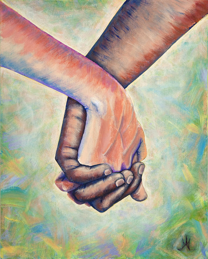 Hand Holding Painting