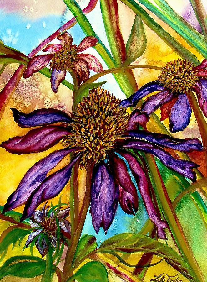 Coneflowers Painting - Holding On To Summer Sold by Lil Taylor