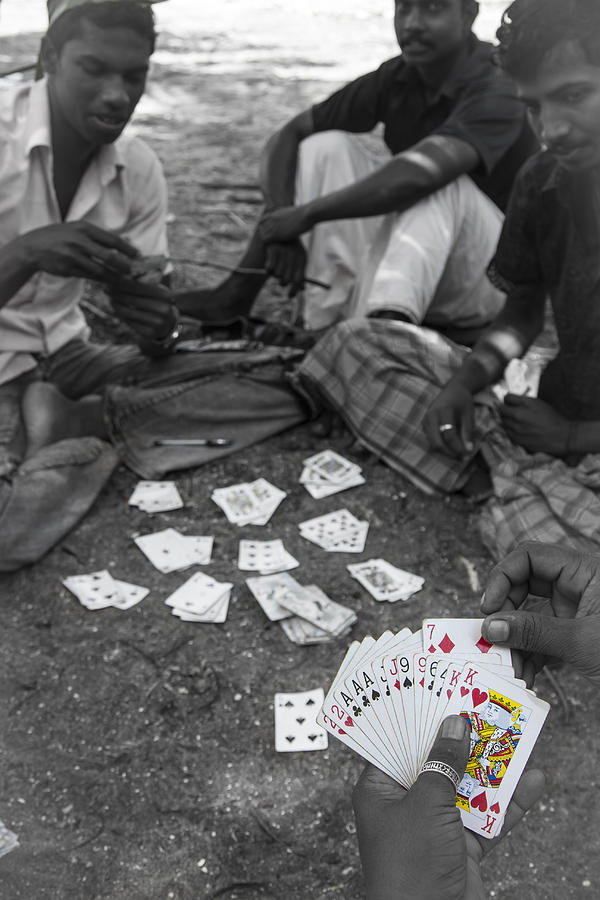 Aces Photograph - Holding The Aces by Sonny Marcyan