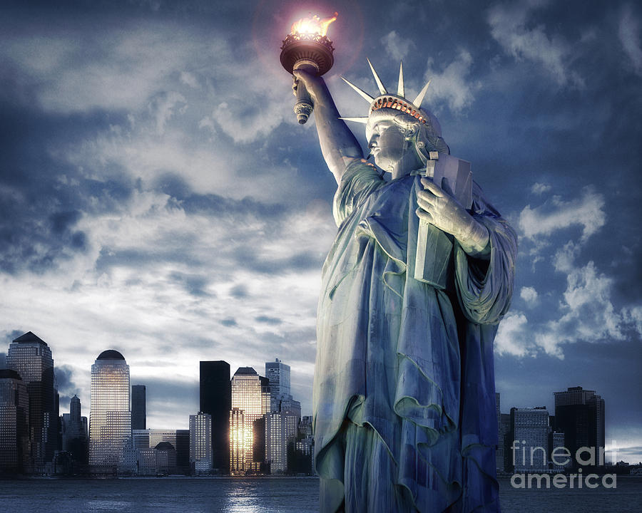 Usa Photograph - Holding Your Torch by Edmund Nagele