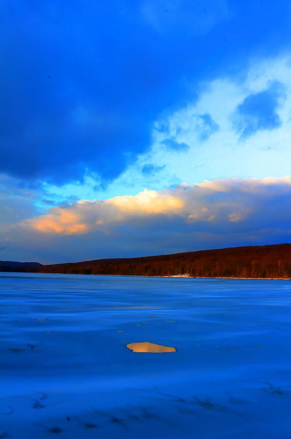 Ice Photograph - Hole And Sky by David  Jones