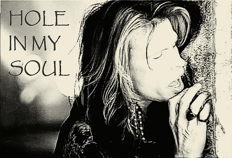 Steven Tyler Photograph - Hole in my Soul Sketched by Jenn Beck