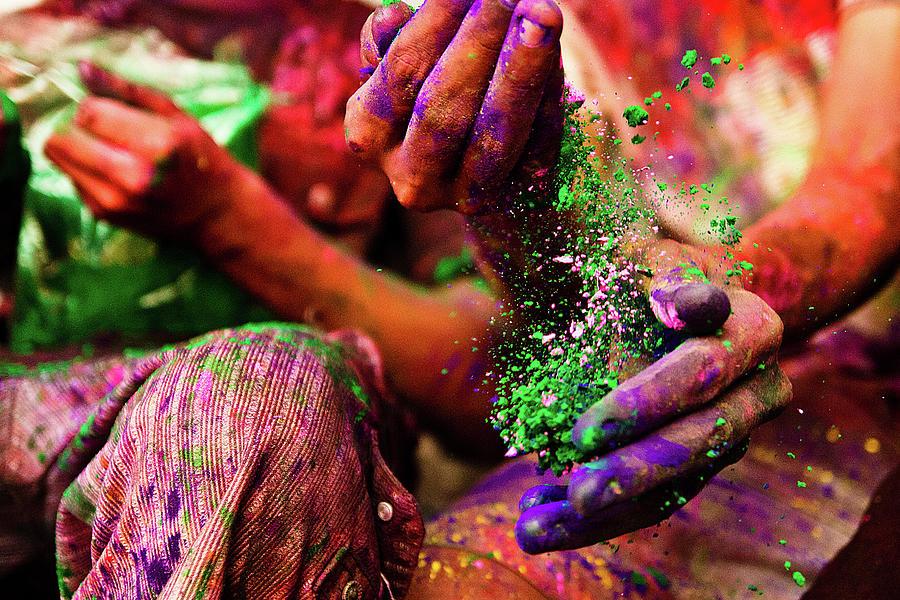Holi Hands Photograph by Gulfu Photography