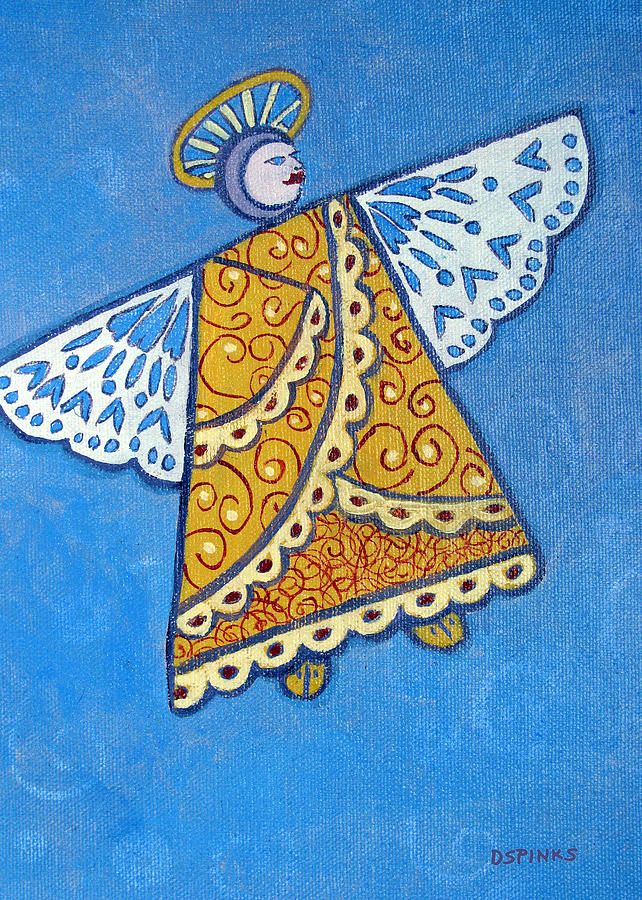 Holiday Painting - Holiday Angel by Debra Spinks
