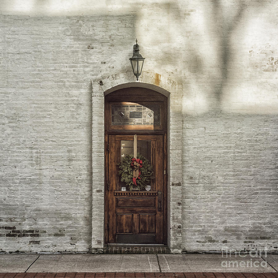 Holiday Photograph - Holiday Door by Terry Rowe