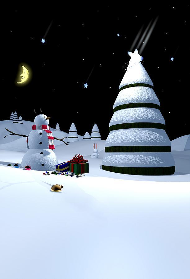 Christmas Digital Art - Holiday Falling Star by Cynthia Decker