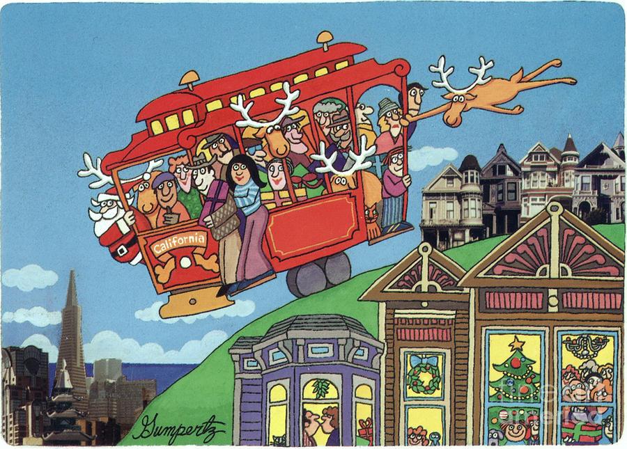 Holiday greetings from san francisco mixed media by robert gumpertz san francisco mixed media holiday greetings from san francisco by robert gumpertz m4hsunfo