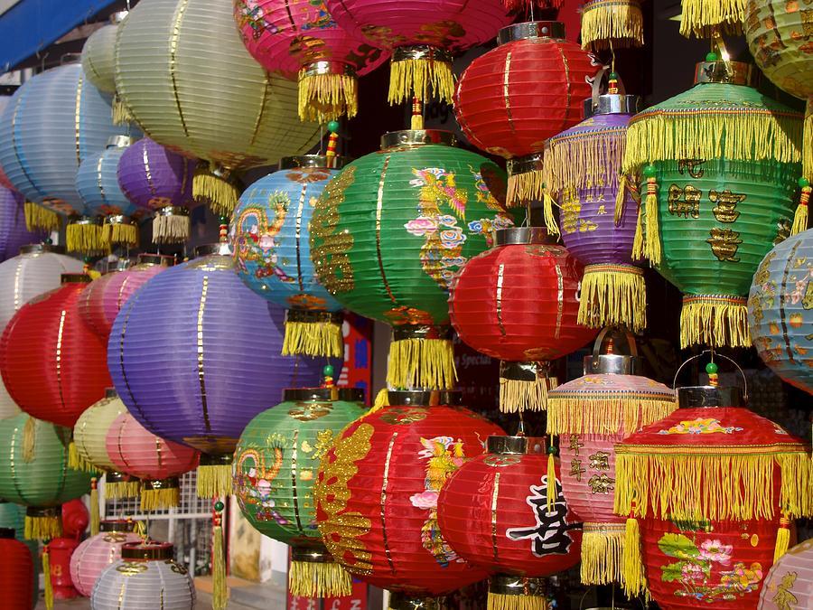 Lantern Photograph - Chinese Holiday Lanterns by Ian Mcadie