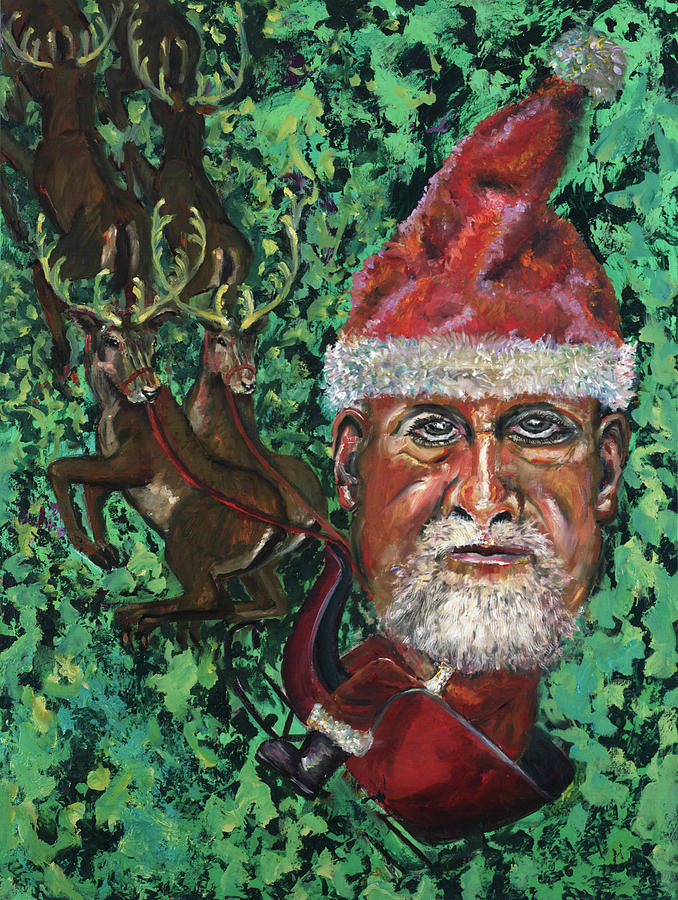 Christmas Painting - Holiday Man by Peter Bonk