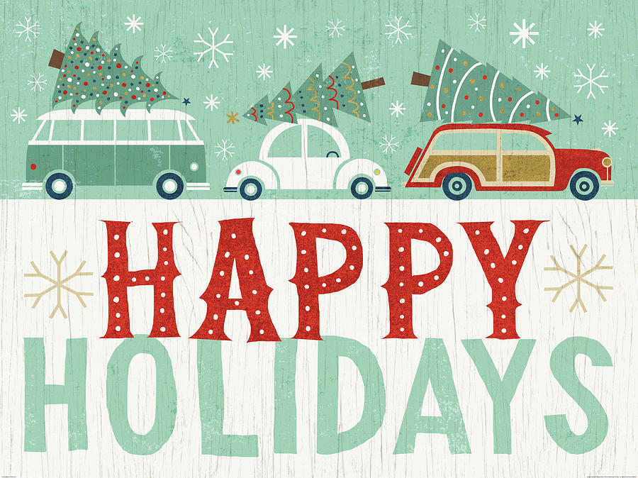 Cars Painting - Holiday On Wheels Ix by Michael Mullan