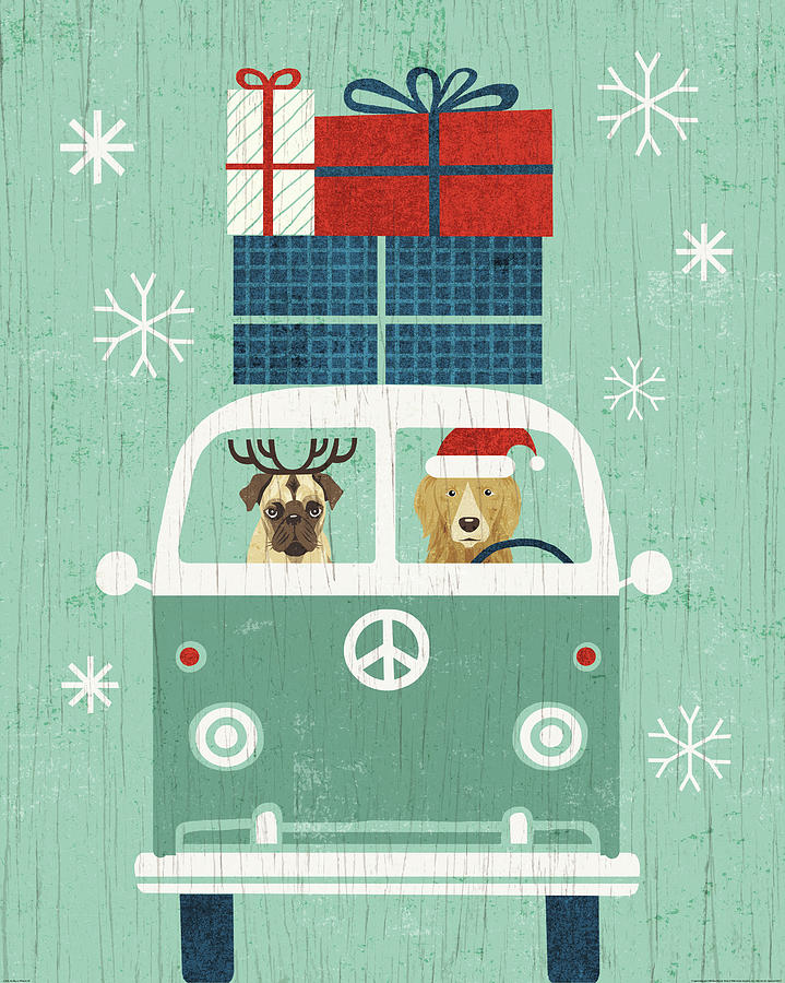 Animals Painting - Holiday On Wheels Xii by Michael Mullan