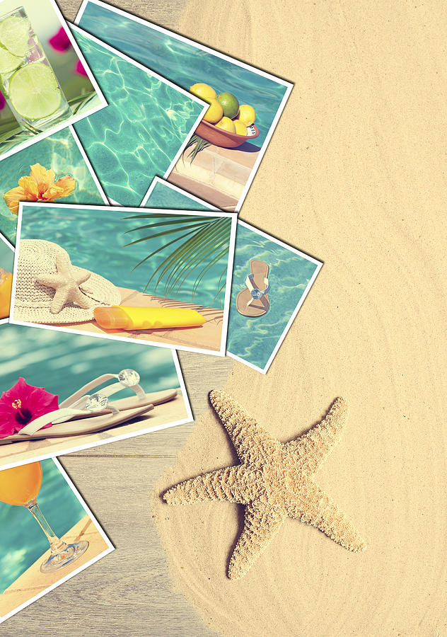 Sand Photograph - Holiday Postcards by Amanda Elwell