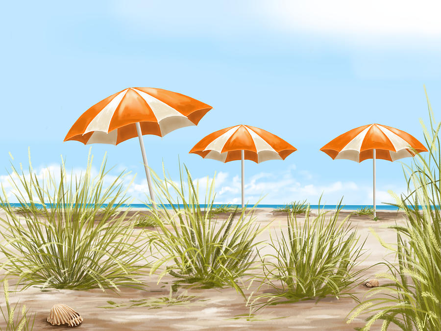 Digital Painting - Holiday by Veronica Minozzi