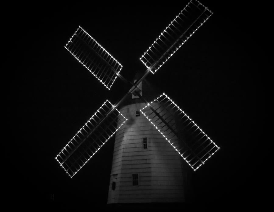Montauk Photograph - Holiday Windmill by Linda C Johnson