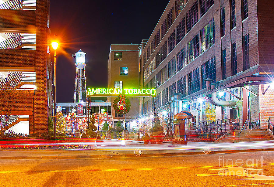 Holidays At The American Tobacco District Photograph By Tom Wooters
