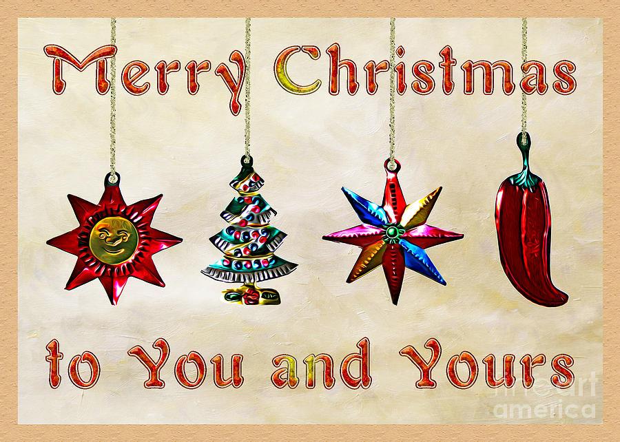 holidays mexican christmas ornaments digital art by gabriele pomykaj