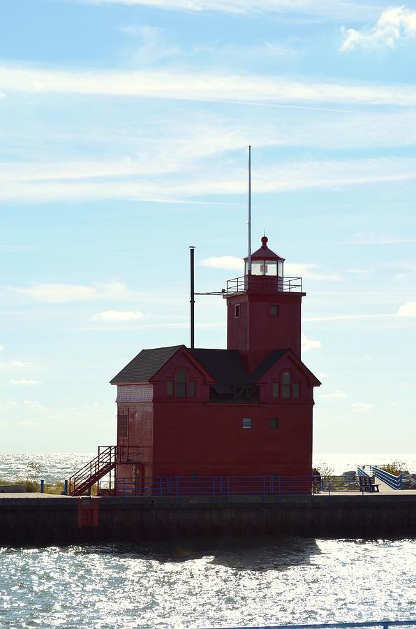 Michigan Photograph - Holland Harbor Lighthouse by Jennifer  King