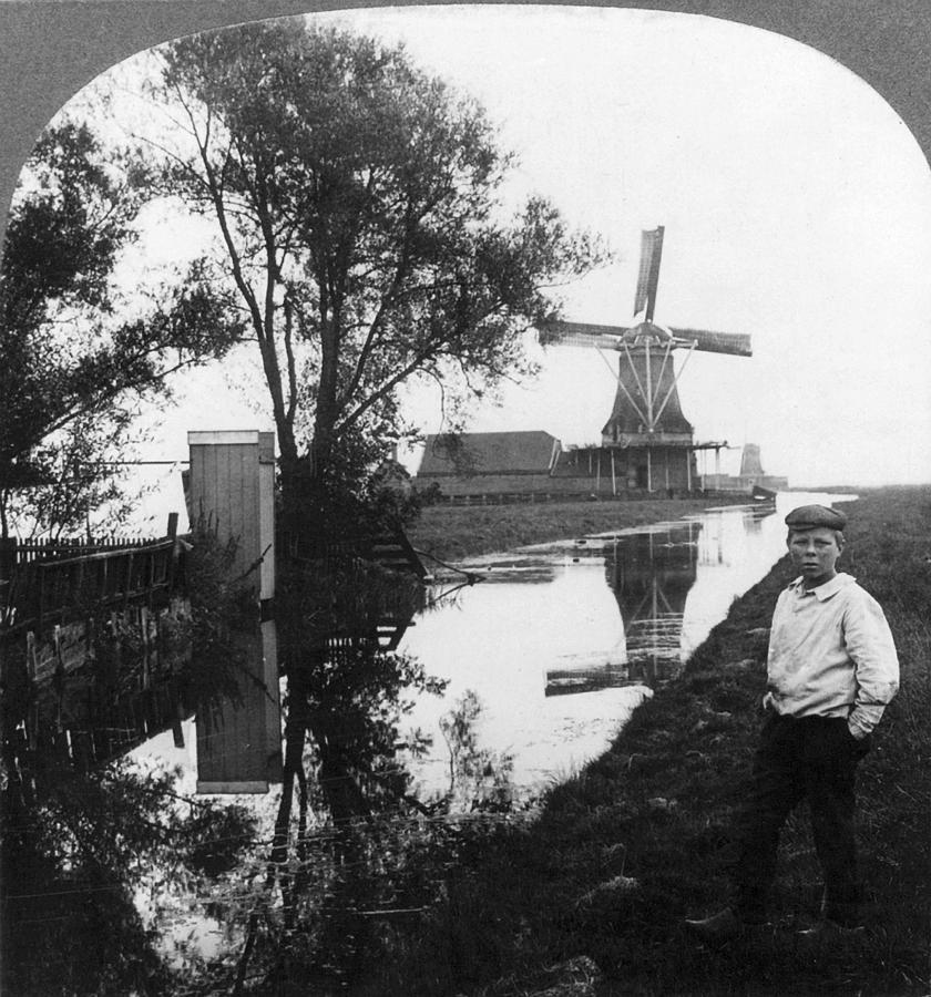 1906 Painting - Holland Windmill, C1906 by Granger