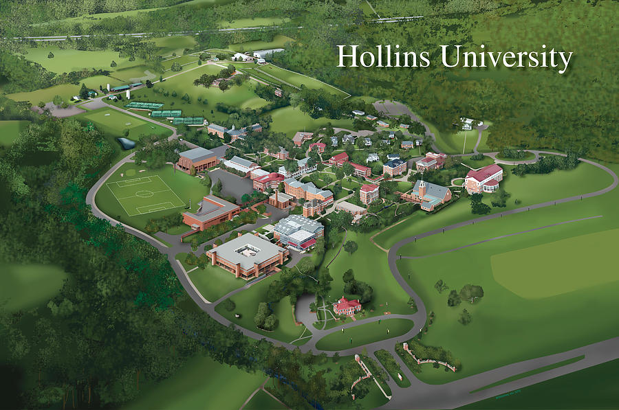 Hollins Painting - Hollins University by Rhett and Sherry  Erb