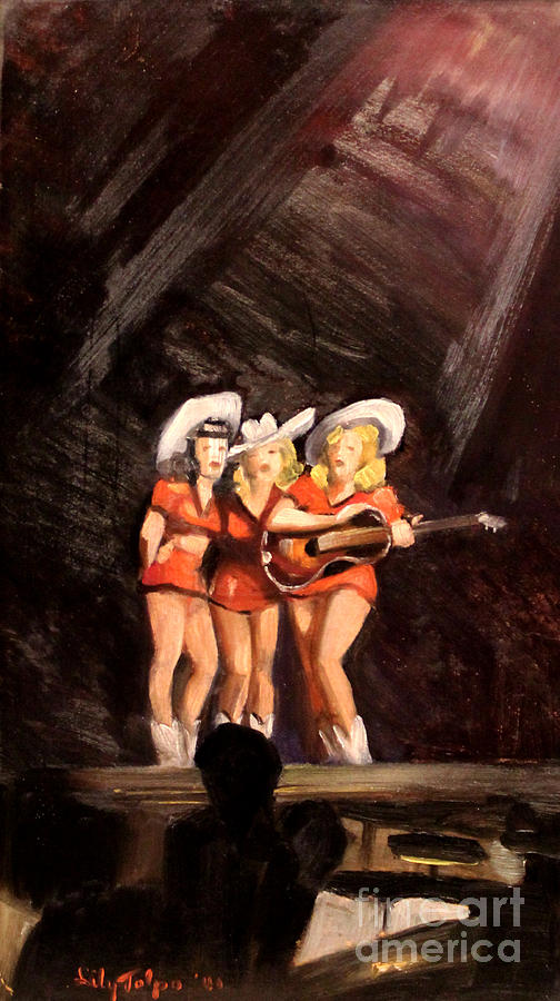 Holloywood Cowgirls on Stage  1940 by Art By Tolpo Collection