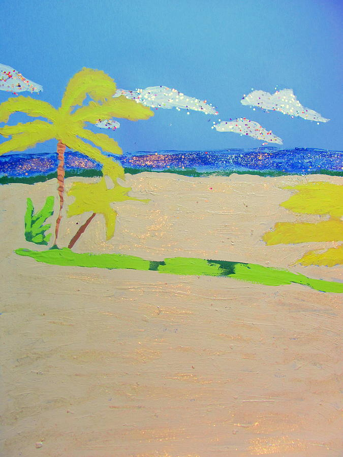 Acrylic Painting - Hollywood Beach View One by Amy Bradley