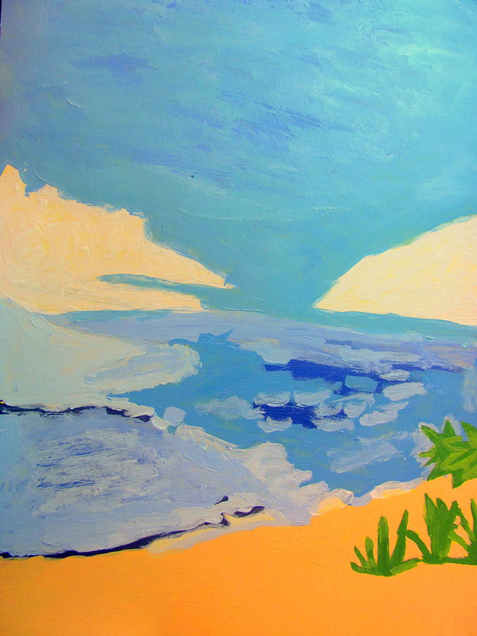 Acrylic Painting - Hollywood Beach View Two by Amy Bradley