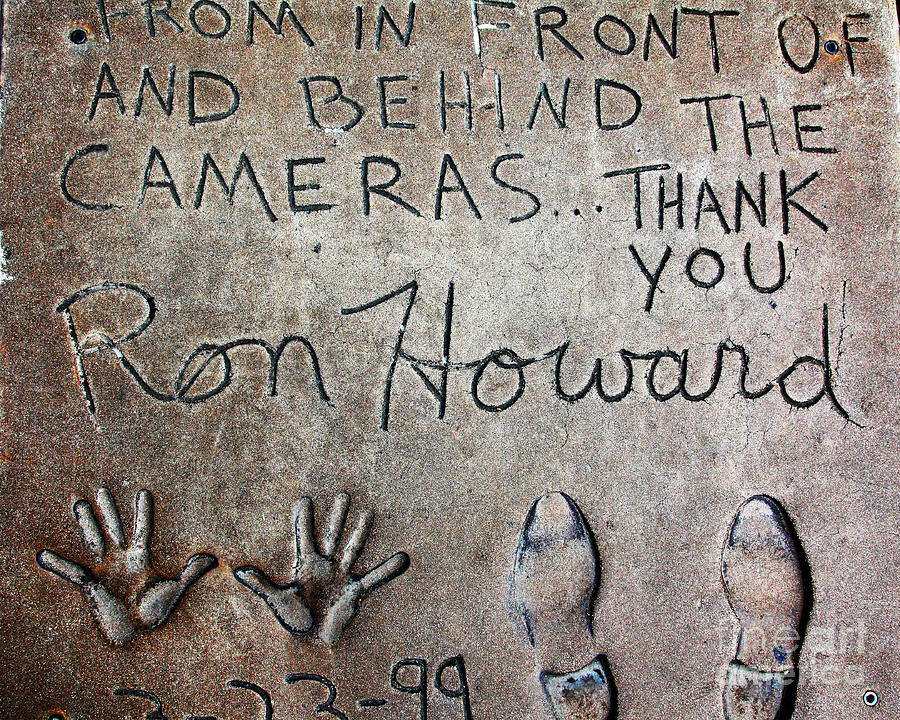 Ron Howard Photograph - Hollywood Chinese Theatre Ron Howard 5d29035 by Wingsdomain Art and Photography