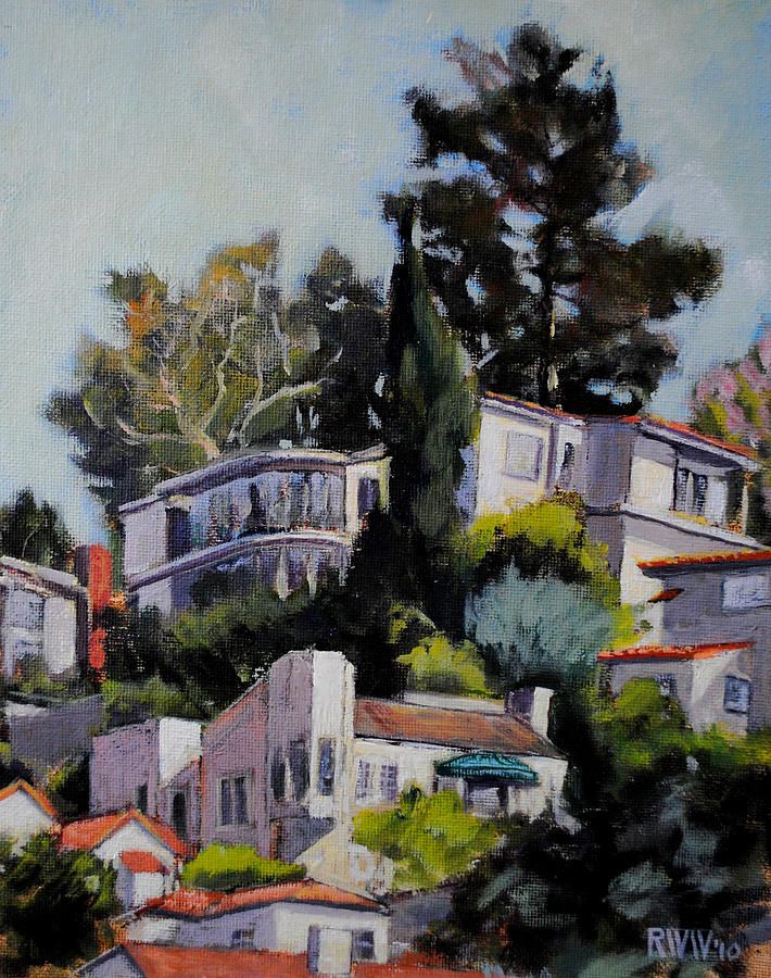 Hollywood Painting - Hollywood Hills by Richard  Willson