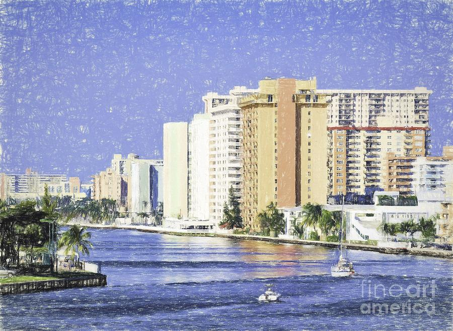 Hollywood Photograph - Hollywood In Florida by Les Palenik