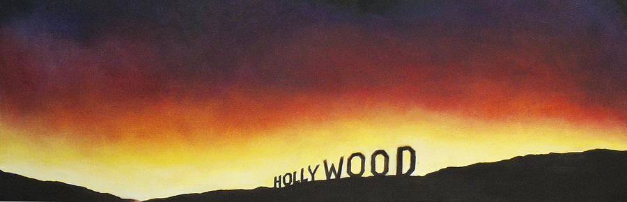 Hollywood Painting - Hollywood On Fire by Christine  Webb