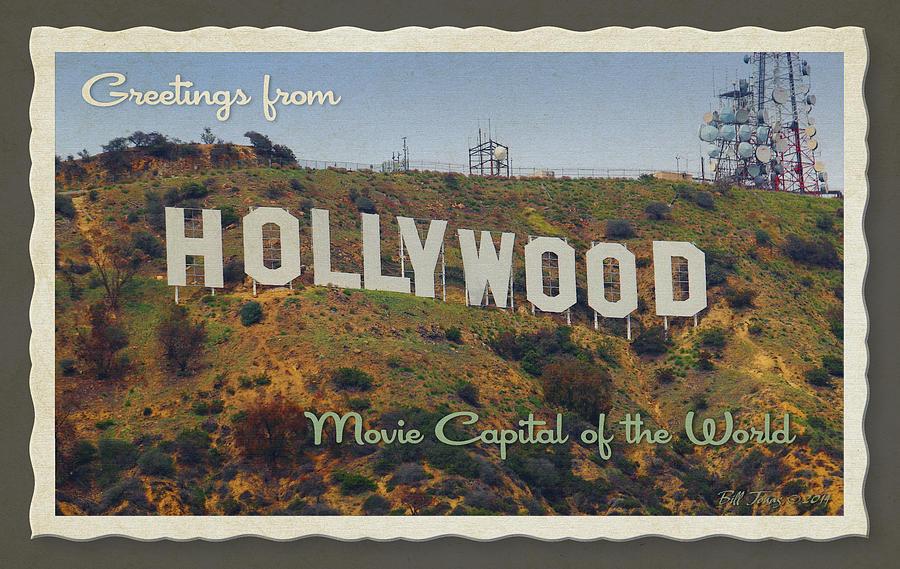 Hollywood Photograph - Hollywood Postcard by Bill Jonas