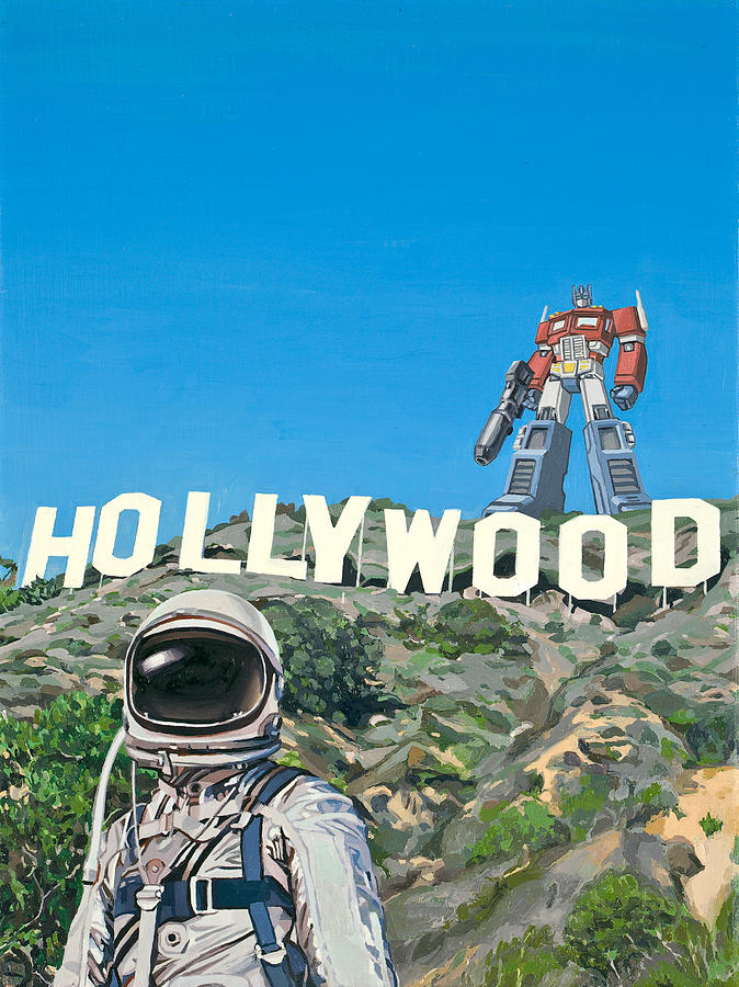 Astronaut Painting - Hollywood Prime by Scott Listfield