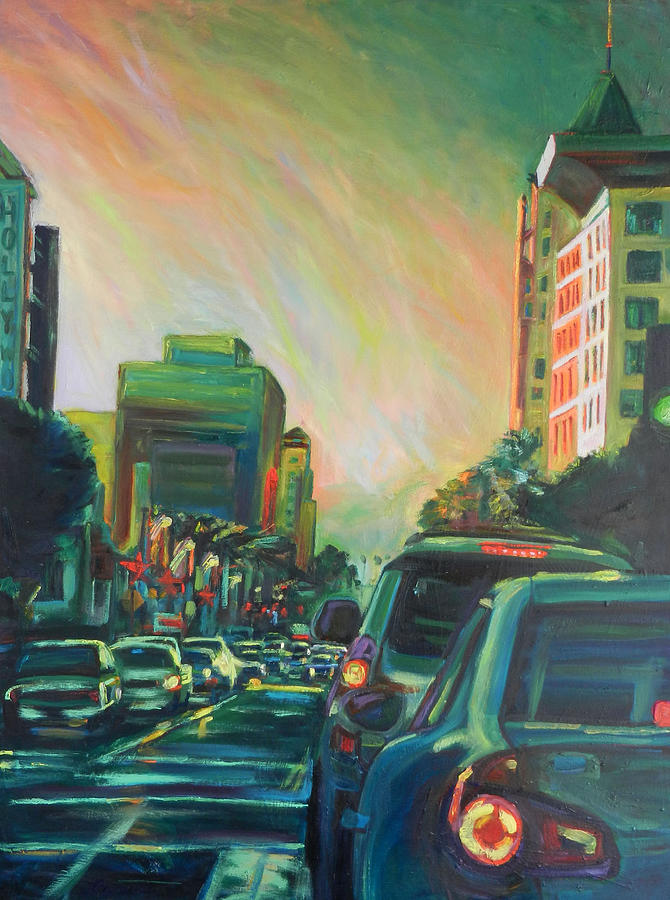 Hollywood Painting - Hollywood Sunshower by Bonnie Lambert