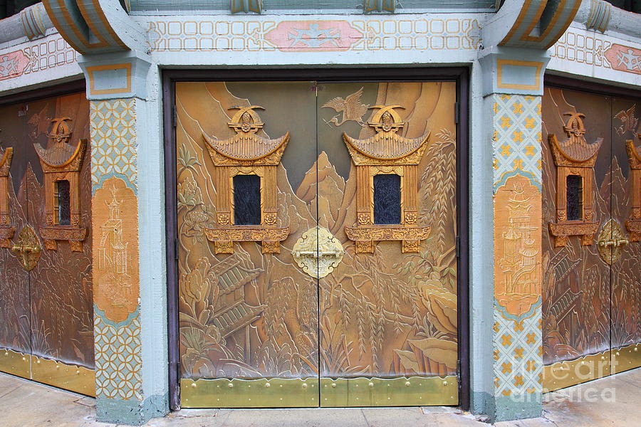 Door Photograph - Hollywood Tcl Chinese Theatre Main Entrance Doors 5d29002 by Wingsdomain Art and Photography & Hollywood Tcl Chinese Theatre Main Entrance Doors 5d29002 Photograph ...