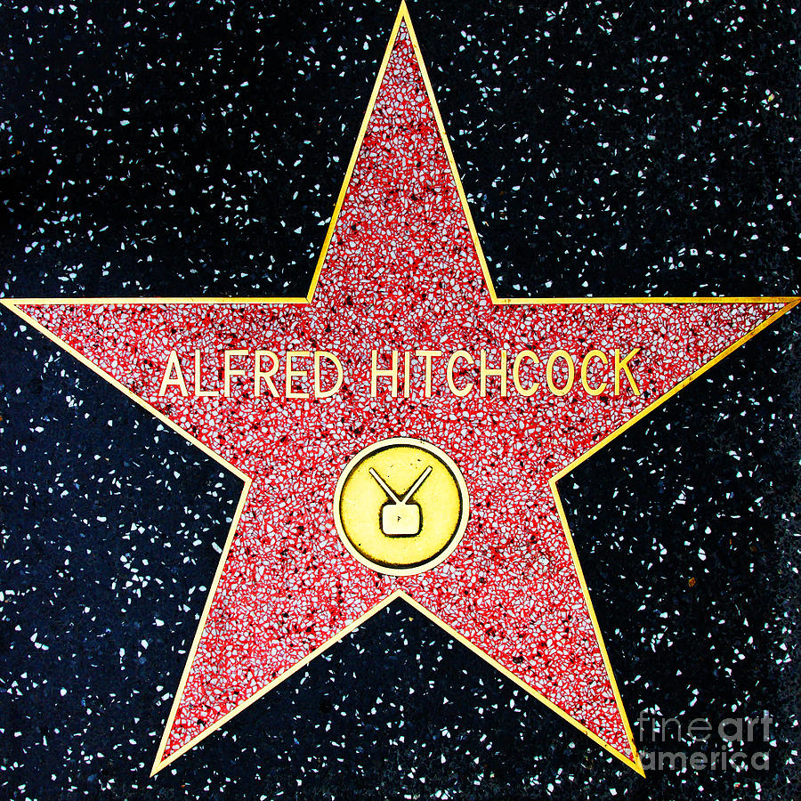 Wingsdomain Photograph - Hollywood Walk of Fame Alfred Hitchcock 5D28961 by Wingsdomain Art and Photography