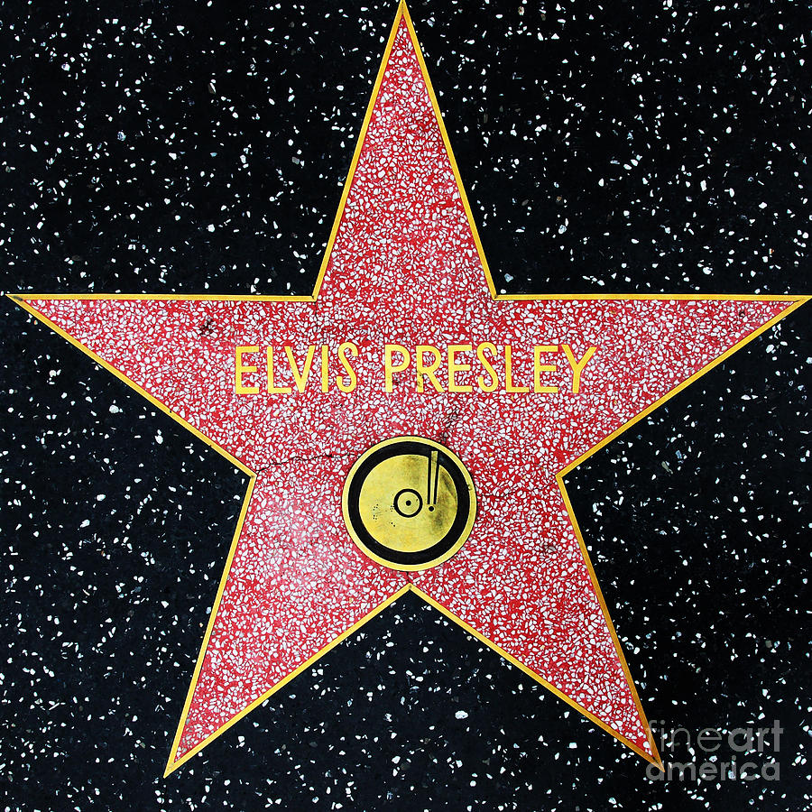 Wingsdomain Photograph - Hollywood Walk Of Fame Elvis Presley 5d28923 by Wingsdomain Art and Photography