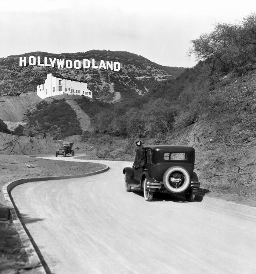 1924 Photograph - Hollywoodland by Underwood Archives