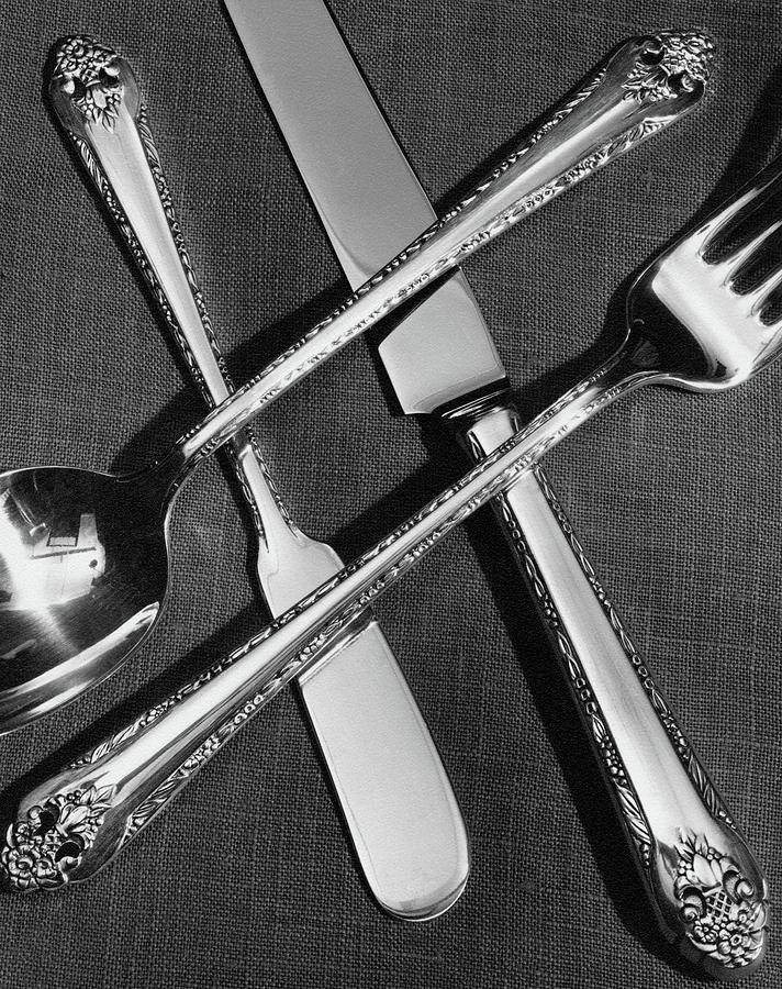 Holmes And Edwards Collection Silverware Photograph by Peter Nyholm