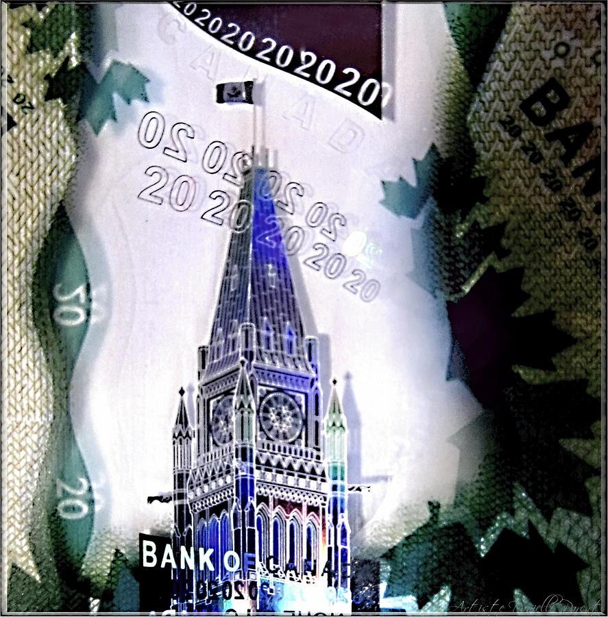 Digitized Photograph - Holographic Parlement by Danielle  Parent