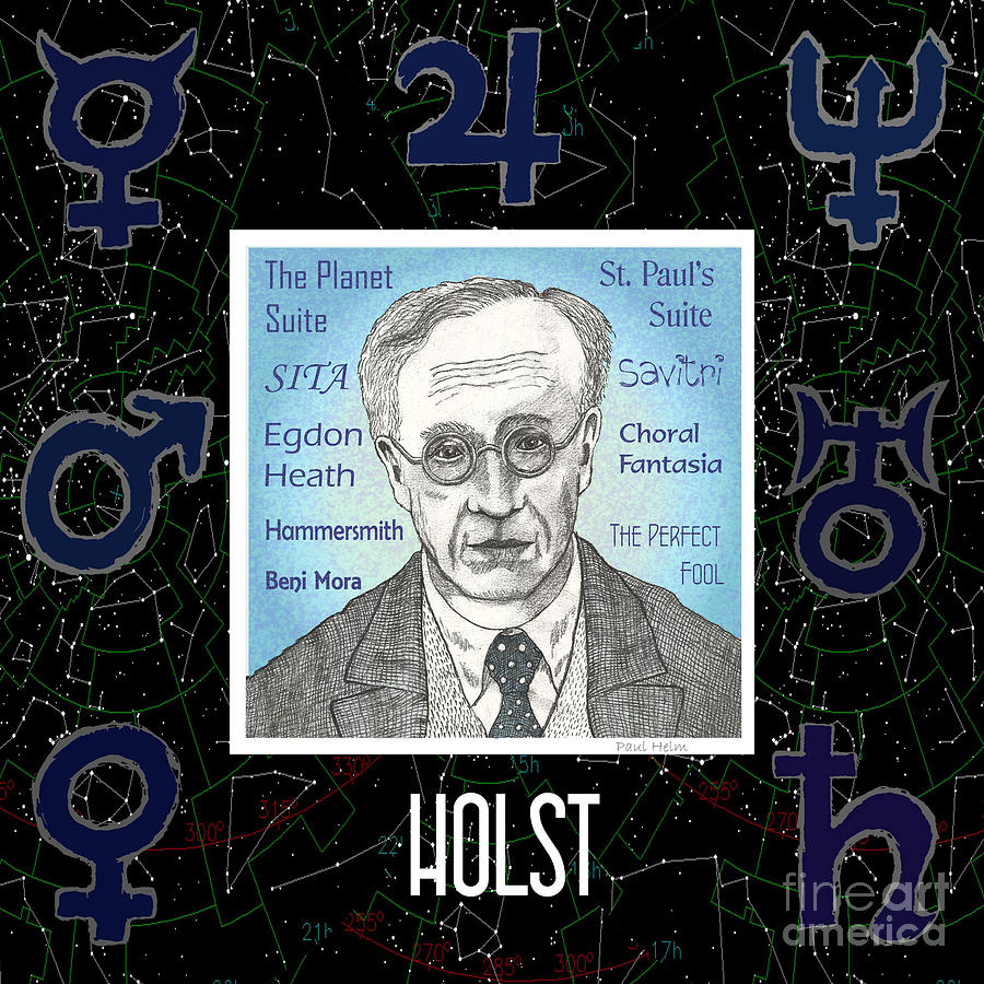 Holst Drawing - Holst by Paul Helm