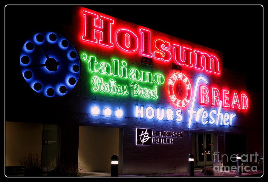 Holsum Photograph - Holsum Neon Las Vegas by Kip Krause