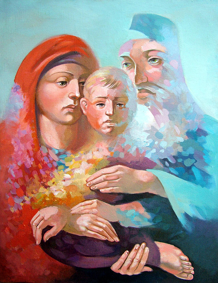 Saint Mary Painting - Holy Family by Filip Mihail