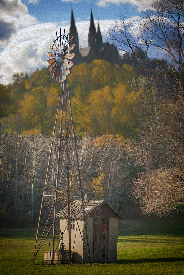 Shrine Digital Art - Holy Hill  Wisconsin by Jack Zulli