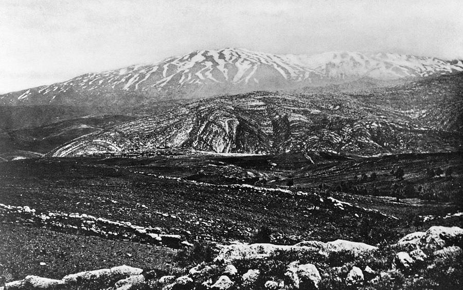 1895 Photograph - Holy Land Mount Hermon by Granger