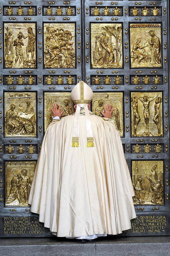 Holy Mass And Opening Of The Holy Door Photograph by Vatican Pool