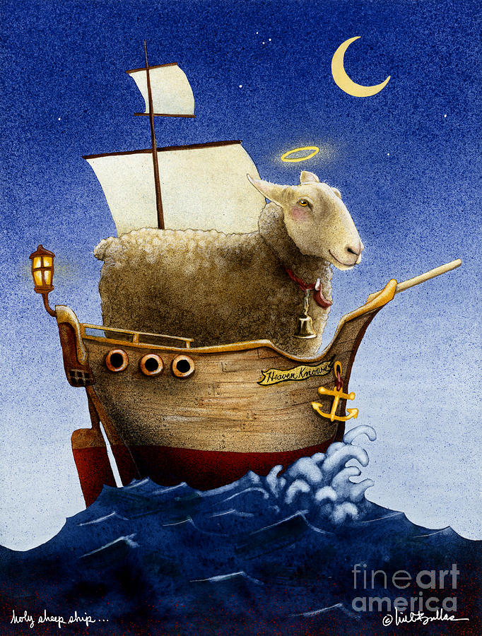 Will Bullas Painting - Holy Sheep Ship... by Will Bullas