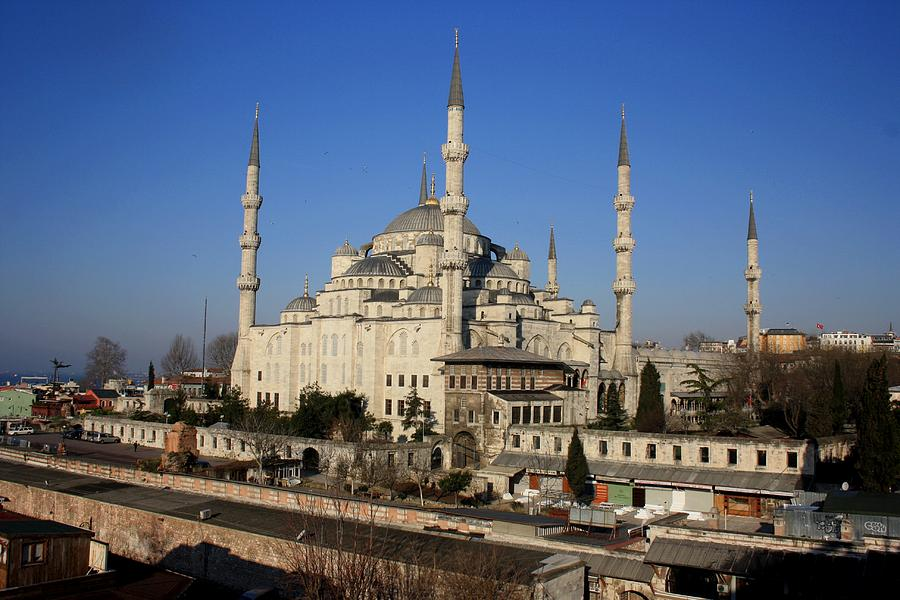 Blue Mosque Photograph - Holy Swords by Frederic Vigne