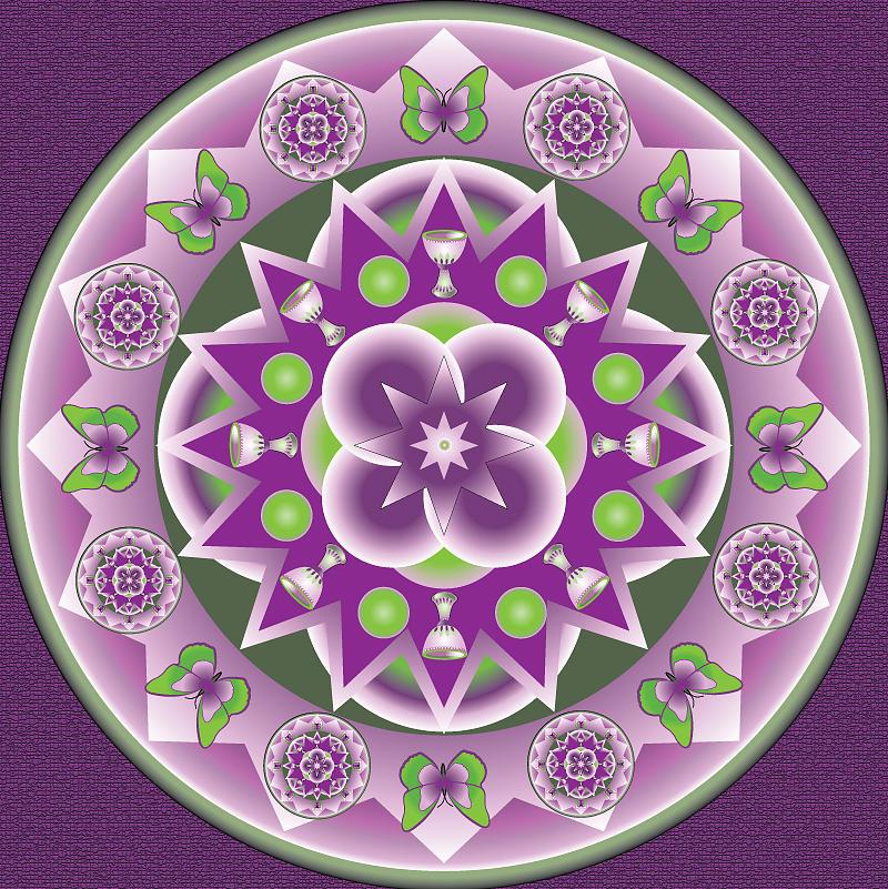 Kaleidescope Digital Art - Holy Week Mandala by Linda Pope